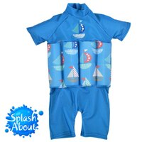 樂天線上婦幼展-點數最高15倍送 媽咪用品推薦《Splash About 潑寶》UV FloatSuit 兒童防曬浮力泳衣 - 普普風帆船-外出用品kids003