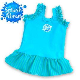 《Splash About 潑寶》Frou Frou 小可愛泳衣 - 水藍/珊瑚綠條紋