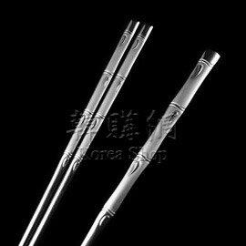 【韓購網】韓國竹節圖扁筷湯匙組★不銹鋼製★環保餐具★精緻非常適合送禮
