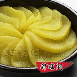 ~韓購網~韓國醃蘿蔔~韓國製,味道偏酸甜,口感清脆,可做壽司、配菜、涼拌等多用途~醃蘿蔔黃