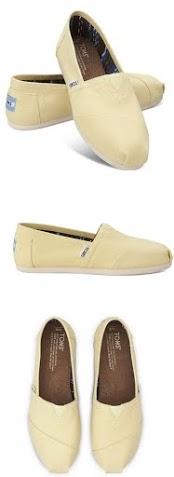 【TOMS】淡黃色經典帆布休閒鞋  Yellow Women's Canvas Classics 4