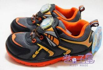 【巷子屋】塞爾號 男童抗菌防臭電燈運動休閒鞋 MIT台灣製造 [36728] 灰桔 超值價$198