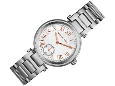 美國Outlet正品代購 MichaelKors MK 復古羅馬鑲鑽銀  陶瓷  三環 手錶 腕錶 MK5970 2
