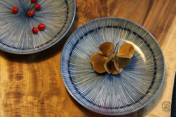 里山生態廚房【日本有田燒-四寸細十草皿】碟碗盤皿食器