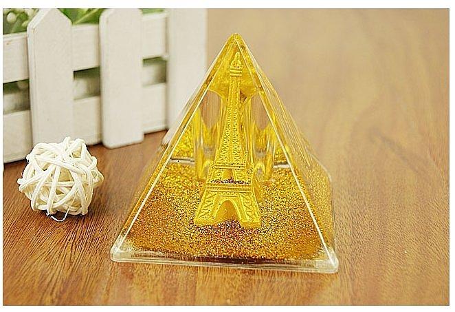 辦公用品 鐵塔 金字塔 金沙亮粉 筆筒 收納盒 ~不挑色 ~真愛香水~ 古銅色鐵塔 ~