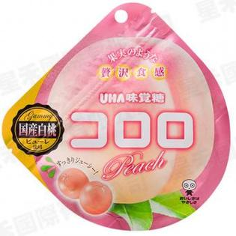現貨供應 日本 UHA味覺糖_コロロ果汁軟糖/QQ軟糖(白桃)