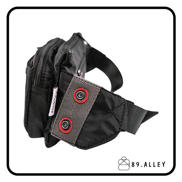 腰包 單肩包 女包男包 黑色系防水包 輕量尼龍雙層情侶斜背包 89.Alley 2