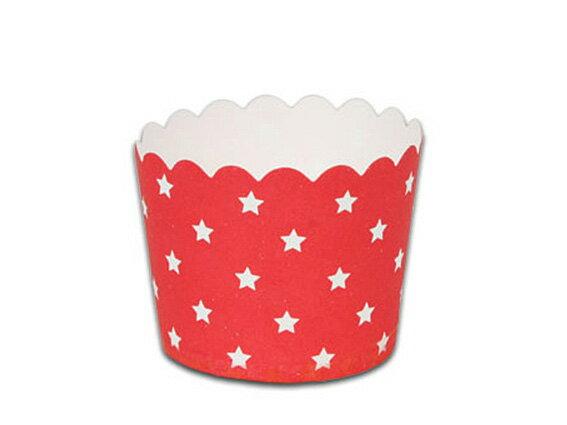 瑪芬杯、杯子蛋糕、烘烤紙杯 MF6256-06 紅底星星(50pcs/包)