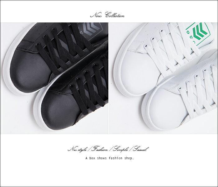 格子舖*【KB80588】男鞋基本款 簡約型男時尚皮革材質 綁帶休閒鞋 板鞋 2色 1