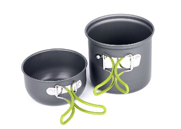 【露營趣】中和 TNR-121 單人鋁合金鍋具組 套鍋 1人鍋 一人鍋 登山露營野炊非RHINO犀牛野樂ARC-511