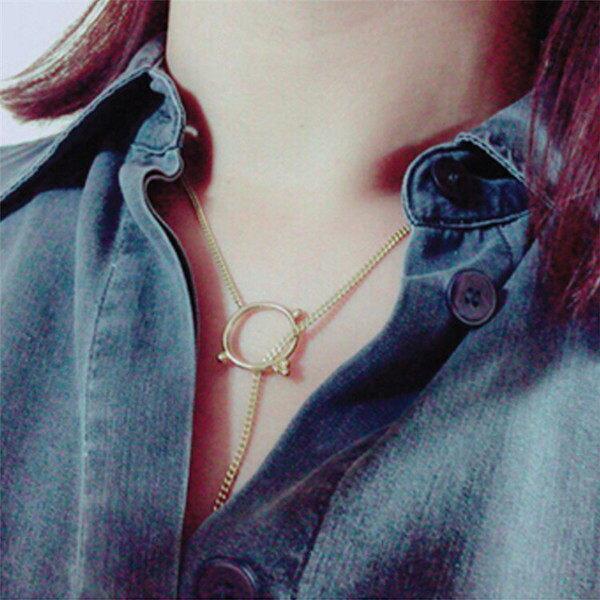 PS Mall 飾品 電視劇明星 花朵鑲鑽項鍊 簡約鎖骨鏈~G1994~ ~  好康折扣