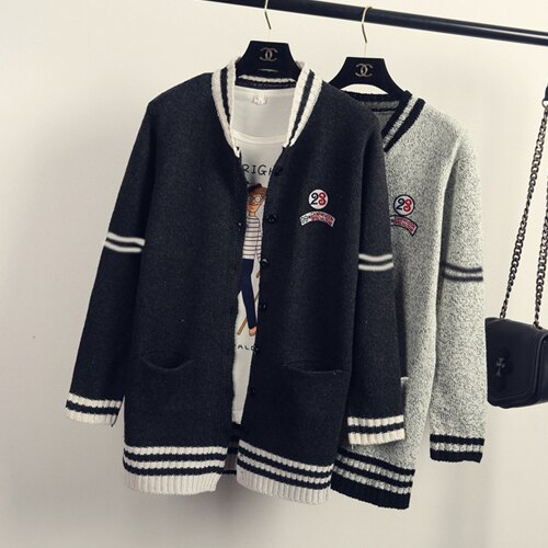 外套 - 撞色羅紋貼布設計針織長袖外套【29189】藍色巴黎《2色》現貨 + 預購 2