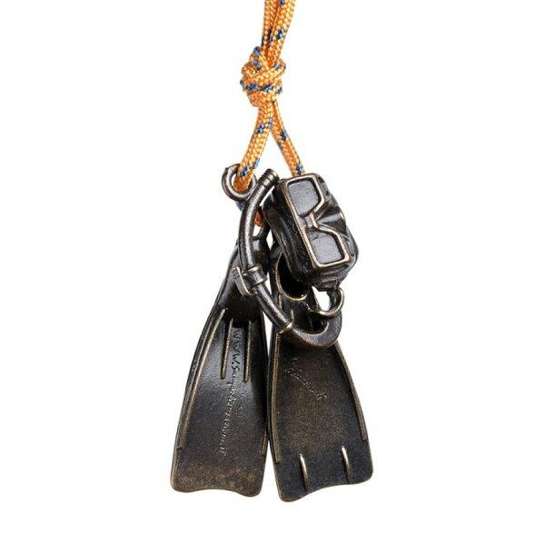 ├登山樂┤義大利 Sampaoli Andrea Creazioni  青銅鑰匙圈掛飾 潛水三寶(面鏡、蛙鞋、呼吸管)#401