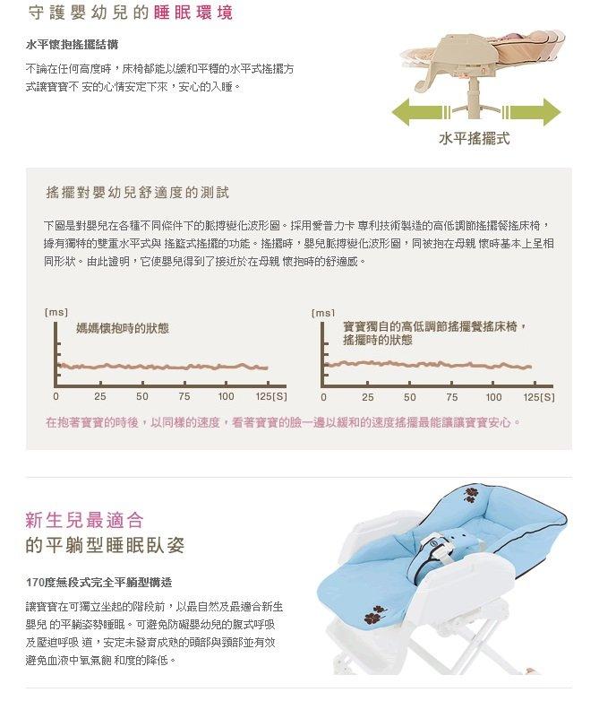 Aprica愛普力卡 - Nemyu STD 569 手動高低調節搖擺餐搖床椅 -綠森林 1