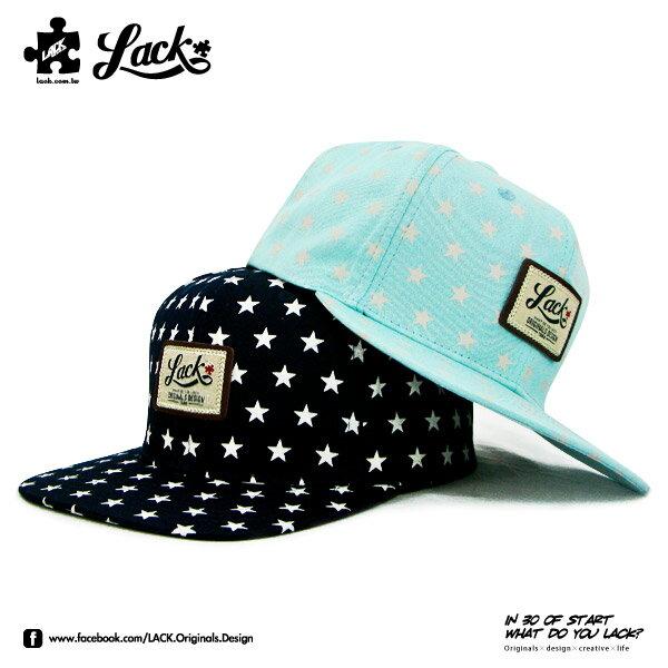 LACK LABEL STAR CAP LA131006 ~  星星 深藍 湖水 排扣 皮