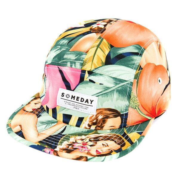 SOMEDAY MIRAGE 5 PANEL CAP 五分帽 復古 美國 女郎 滿版 特殊 質感 限量