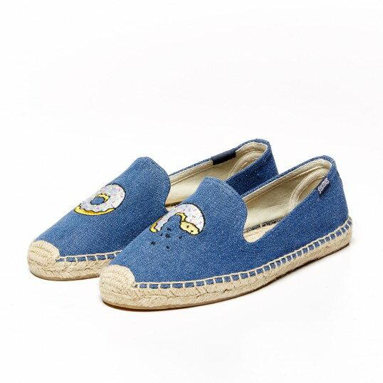 【Soludos】美國經典草編鞋-塗鴉系列草編鞋-甜甜圈 1