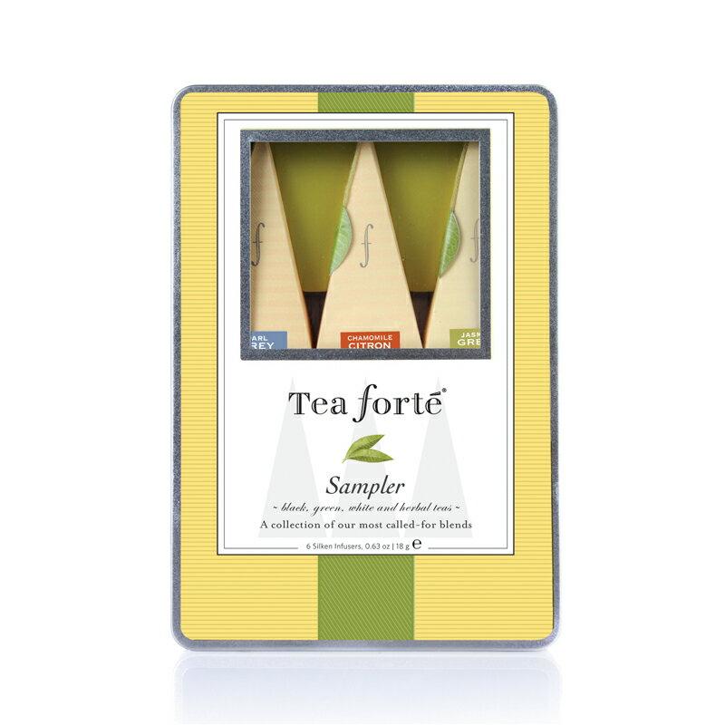 Tea Forte 6入絲質茶包 Medium Tin - 經典集萃 Sampler 0