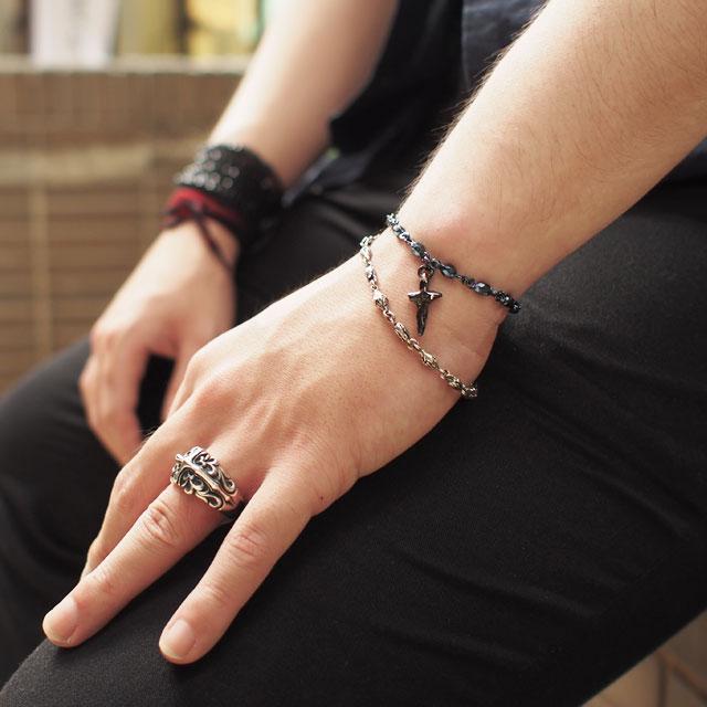 【海外訂購】【Bloody Mary】Stella black 黑色純銀手鍊 19cm (BMB0279B-19  022678D200) 4