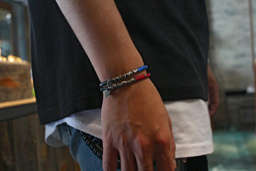 【現貨商品】【M.Cohen】非洲風紅色串珠彈性手環 (MC-B-10751-OXI-RED 0839670201) 1