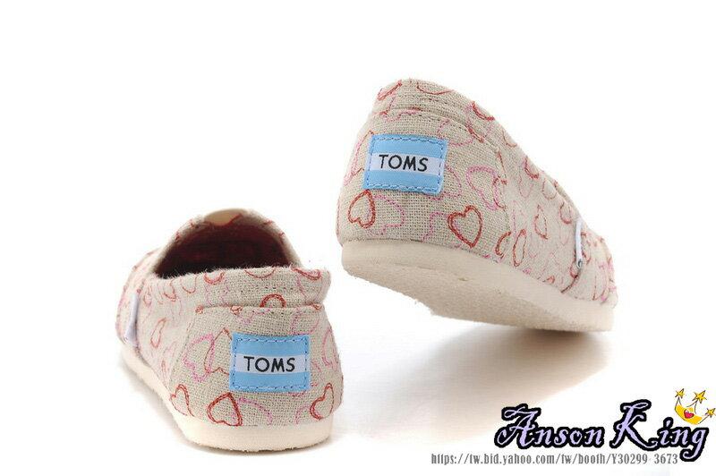 [女款] 國外代購TOMS 帆布鞋/懶人鞋/休閒鞋/至尊鞋 亞麻系列  刺繡愛心 3