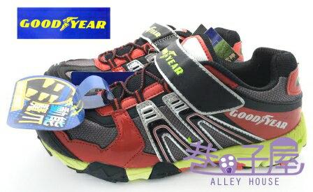 【巷子屋】GOODYEAR 固特異 光速雷神 男童全場地專業多功能競賽鞋 [48002] 紅黑 超值價$398