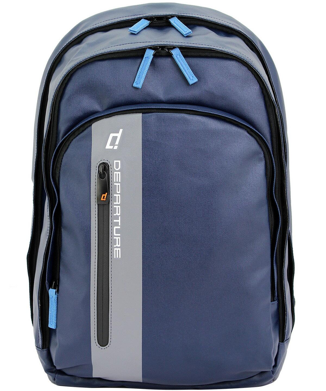 「雙肩後背包」行李箱拉桿 筆電包 防潑水材質×深藍色 :: departure 旅行趣/ BP052 - 限時優惠好康折扣