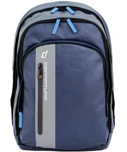 「雙肩後背包」行李箱拉桿 筆電包 防潑水材質×深藍色 :: departure 旅行趣/ BP052