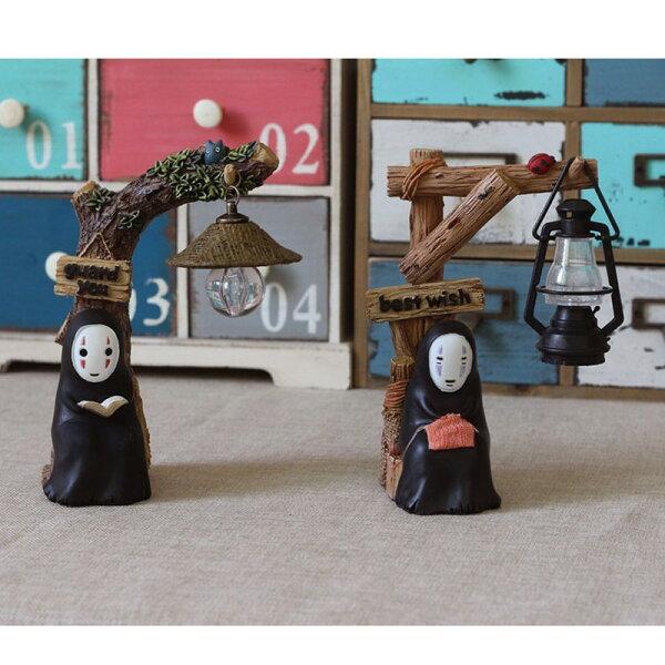 吉卜力居家創意 龍貓 神秘無臉男 拍照小物 生日禮物 咖啡 家庭客廳擺飾 夜燈 小擺飾 公仔 V2102