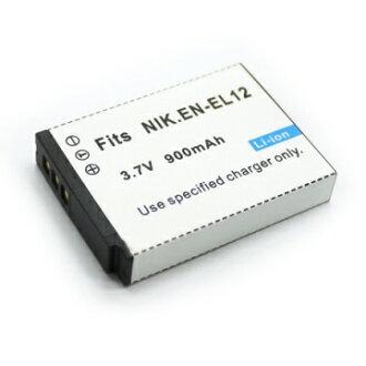 【免運費】Nikon EN-EL12 ENEL12 相機電池 Coolpix S70 S610 S610C S620 S630 S640 S710 S8000 S1000 S1000pj S6000 P300 S1100PJ S8100PJ P310 S9100 S9300 S8200 S1200 S800C S31 AW100 900mAh