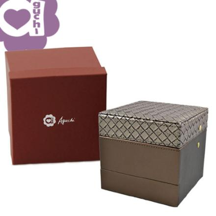 【Aguchi 亞古奇】編織小皇家-耀眼棕 珠寶盒(編織精靈系列) 2