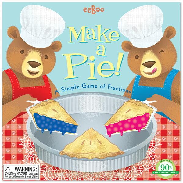 [ eeBoo ]  桌遊 —  Make a Pie Game (數學遊戲)