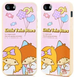 GOMO KiKiLaLa iPhone SE / 5S 軟式保護殼 雙子星 手機殼 手機套-星星粉