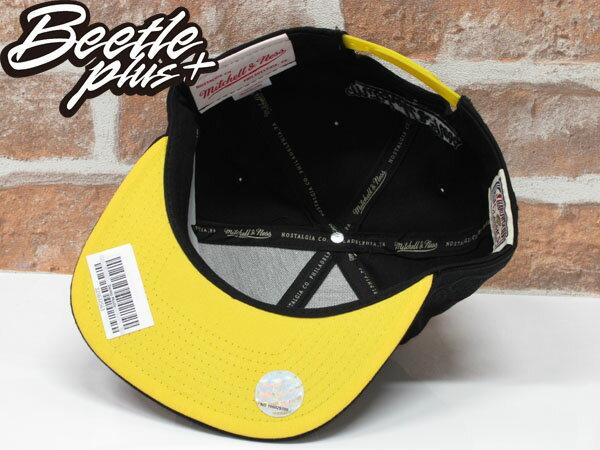 BEETLE MITCHELL&NESS SNAPBACK LAKERS 洛杉磯 湖人 黑黃 文字 LOGO 科比 後扣棒球帽 MN-358 2