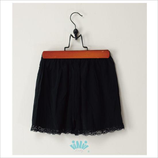 viNvi Lady 輕薄舒適蠶絲內搭安全褲 睡褲內搭短褲(黑)