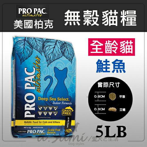 《PRO PAC美國柏克》無穀糧全齡貓 (白鮭+鷹嘴豆+藍莓) - 5磅 / 貓飼料