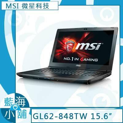 MSI 微星 GL62 6QF-848TW ( i5-6300HQ/GTX960M-2G/1TB/W10 ) 電競 筆記型電腦