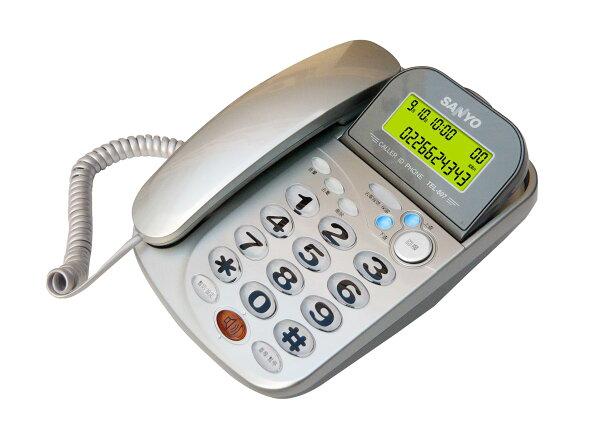 【TEL-807】SANYO 三洋來電顯示電話TEL-807 / 銀色