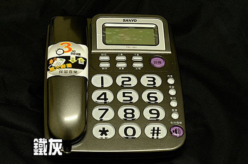 【TEL-991】全新 SANYO TEL-991來電顯示有線電話【來電超大鈴聲】