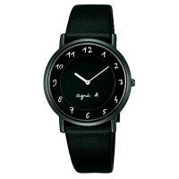 agnès b.到agnes b 7N00-0BC0D(BG4002P1)法式簡約時尚腕錶/黑面34mm