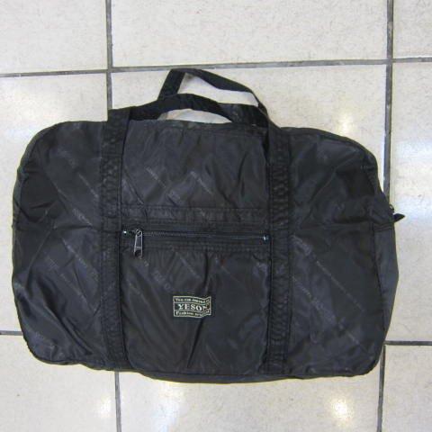 ~雪黛屋~YESON 備用型旅行袋 可折疊式收納袋 採購袋 高單數超輕防水尼龍布材質 #412黑