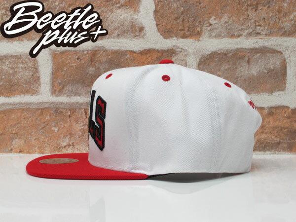 BEETLE MITCHELL&NESS NBA CHICAGO BULLS 芝加哥 公牛 冠軍 紅白 SNAPBACK MN-339 1