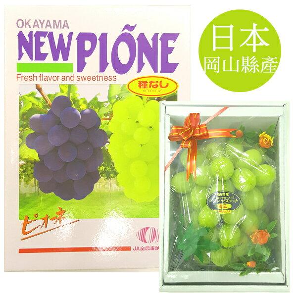 花菓山水果 日本岡山進口晴王葡萄禮盒(650g/盒)
