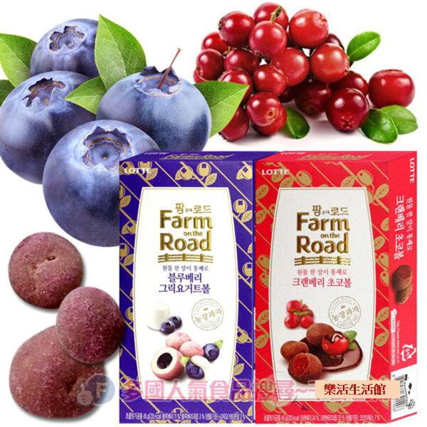 韓國 樂天LOTTE 田園巧克力球 小紅莓/藍莓優格