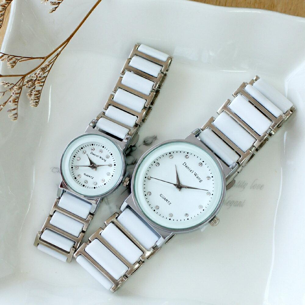 Daniel Wang 3146 氣質美氛多角度切割鏡面仿陶瓷男錶/女錶-數字/晶鑽款 1