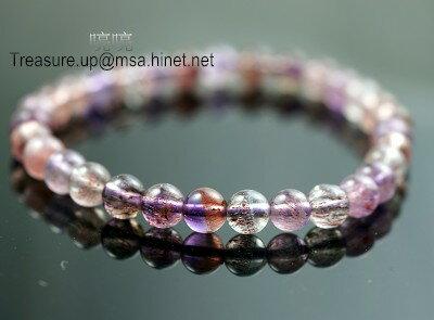 紫髮手鍊 ˊ6mm / 超級七/ Super Seven / 即是因為含有七種共生礦及針對七輪作用來的。N216