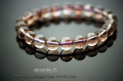 紫髮手鍊 8mm / 超級七/ Super Seven / 即是因為含有七種共生礦及針對七輪作用來的。84.75ct