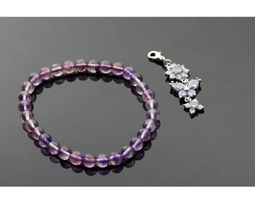 紫髮手鍊 6mm / 超級七/ Super Seven / 即是因為含有七種共生礦及針對七輪作用來的。52.15ct