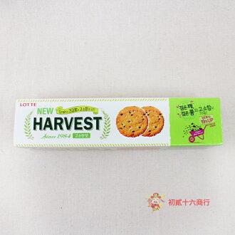 【0216零食會社】LOTTE Harvest黑芝麻脆餅100g