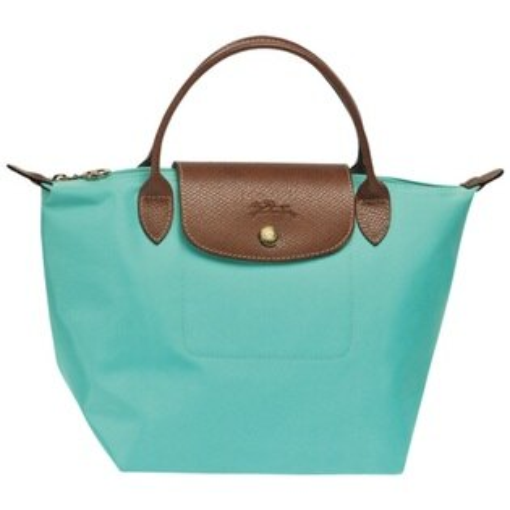 [短柄S號]國外Outlet代購正品 法國巴黎 Longchamp [1621-S號] 短柄 購物袋防水尼龍手提肩背水餃包 湖綠色